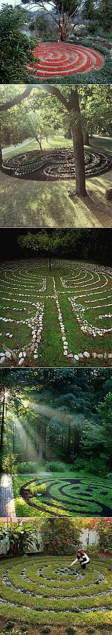 Labyrinth garden. Beautiful! | Art Therapy and Integrative Medicine …