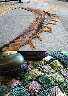 Ravelry: Entrelac Shawl with Tassels pattern by Eva Martinsson