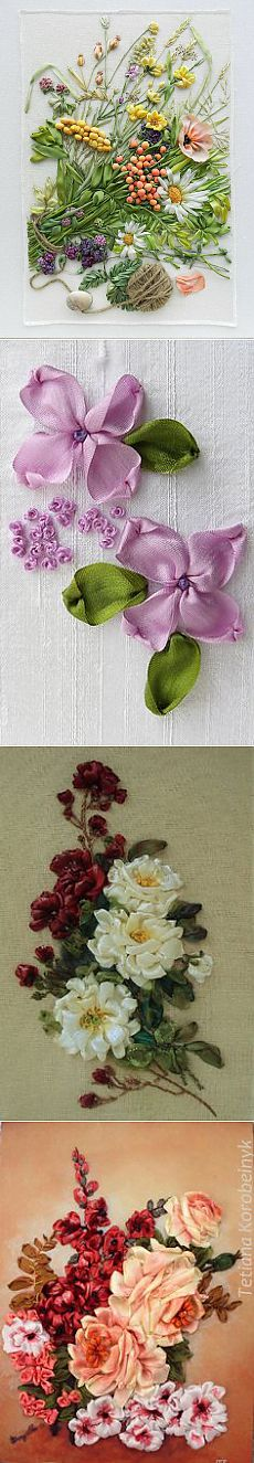Wildflowers_1, silk ribbon embroidery
