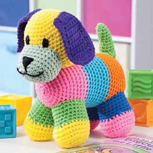 Patchwork Puppy pattern by Sheila Leslie